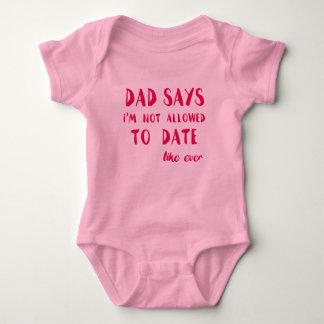 Pappanågot att säga mig inte tillåten förmiddag tröjor