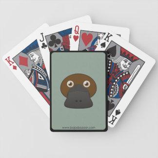 Papper Anka-Fakturerad näbbdjur Spelkort