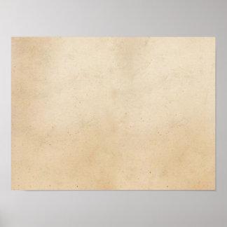 Papper antik tom Parchmentmall för vintage Poster
