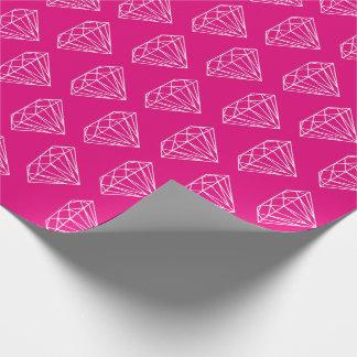 Papper för neon för diamantgemstonejuvel rosa presentpapper
