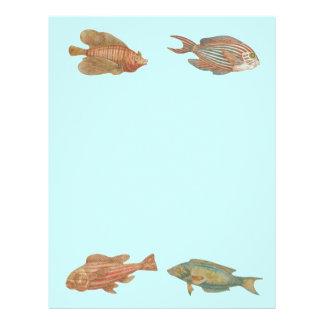 Papper för Scrapbook för fisk för havhavsliv Brevhuvud