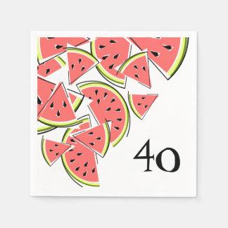 Papper för servetter för vattenmelonålder 40