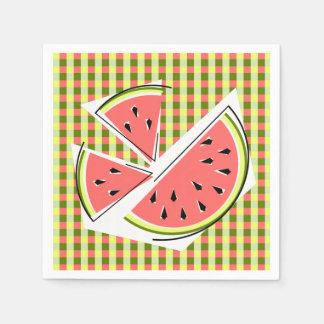 Papper för servetter för vattenmelondelarkontroll