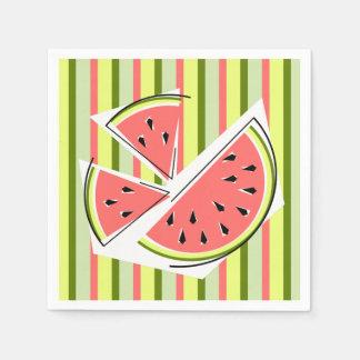 Papper för servetter för vattenmelondelarrand