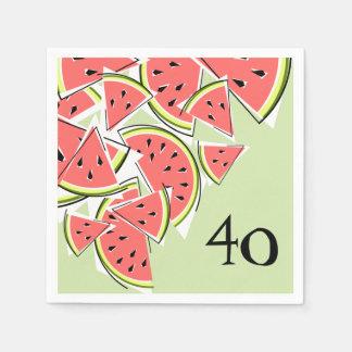 Papper för servetter för vattenmelongröntålder 40