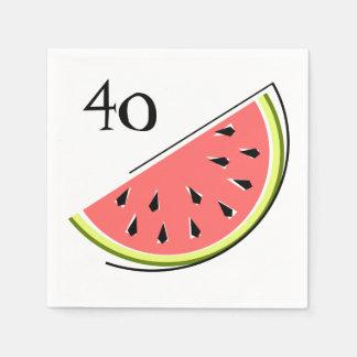 Papper för servetter för vattenmelonskivaålder