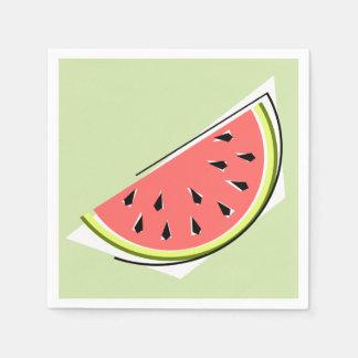 Papper för servetter för vattenmelonskivagrönt