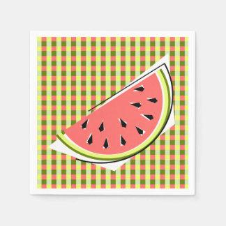 Papper för servetter för vattenmelonskivakontroll