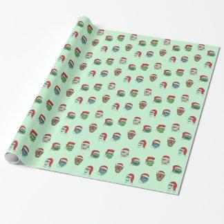 Papper för sjal för julmonstergåva presentpapper