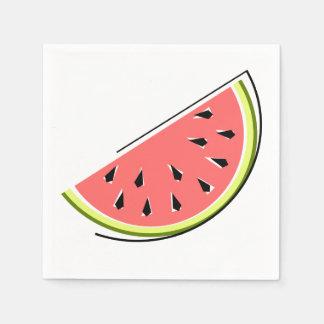 Papper för vattenmelonskivaservetter servett