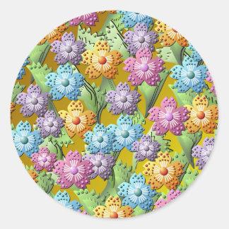 papper klistermärke för blomsterträdgård 3D