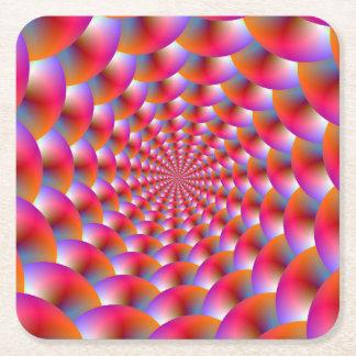 Papper kustfartygspiral av Spheres i rosor och Underlägg Papper Kvadrat