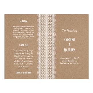Papper och snöre 2 för bröllopsprogram | Kraft