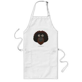 Papper Orangutan Långt Förkläde