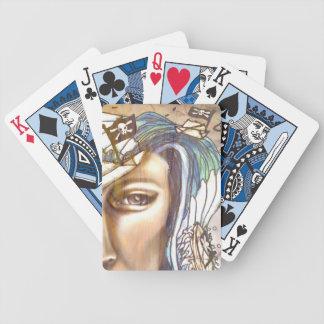"""""""Papper pirat"""" som leker kort Spel Kort"""