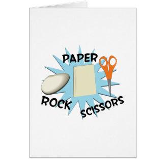 Papper sax för sten hälsningskort