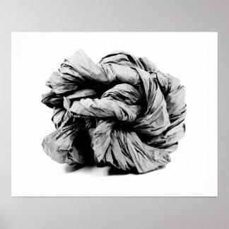 Papper skulptur poster