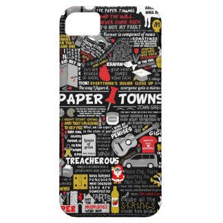 Papper städer iPhone 5 Case-Mate fodraler