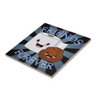 Papper vänför evigt för bajs och för toalett liten kakelplatta