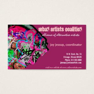 papper visitkort för grafitti