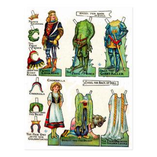 Pappra dockor för saga vykort