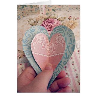 Pappra hjärtor, kärlekkort, poesi, fromhet hälsningskort