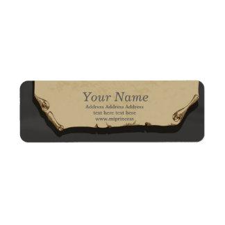 pappra returadressklistermärkear för vintage returadress etikett