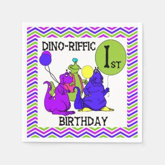 Pappra servetter Dino-Riffic för 1st födelsedag