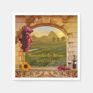 Pappra servetter för för vingårdbröllop eller