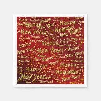 pappra servetter för gott nytt år