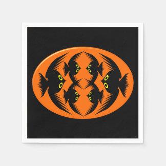 Pappra servetter för Halloween kråkor