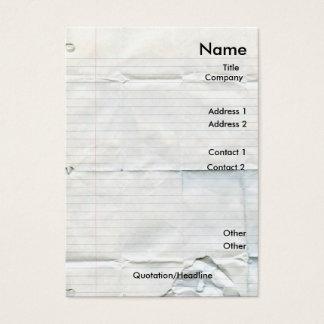 Pappra visitkortar för anteckningsbok visitkort
