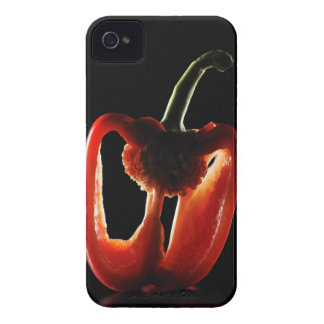 Paprika grönsak, svart bakgrund Case-Mate iPhone 4 skydd