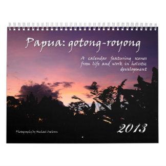 Papua Holistic utvecklingskalender 2013 Kalender