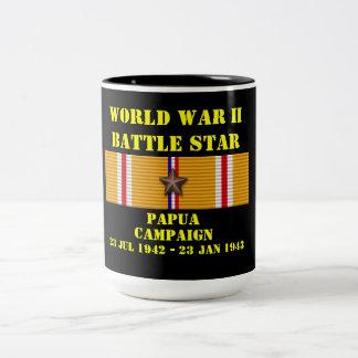 Papua kampanj Två-Tonad mugg