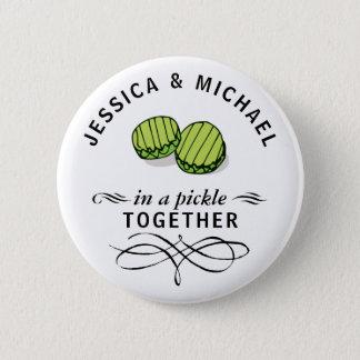 Par i en knipa personifierade tillsammans standard knapp rund 5.7 cm
