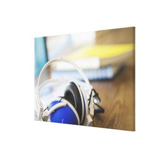 Para av hörlurar canvastryck