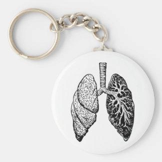 para av lungs rund nyckelring