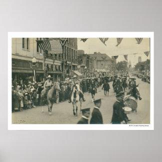 Parade. för Cheyenne gränsdagar Poster