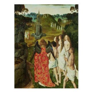 Paradis av den symboliska fontänen vykort