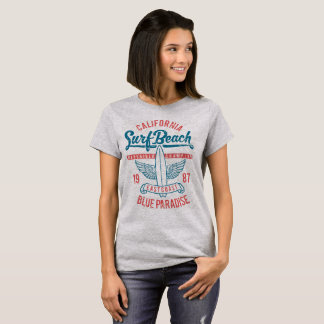 Paradis för Kalifornien surfastrand T Shirts