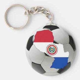 Paraguay futbol rund nyckelring