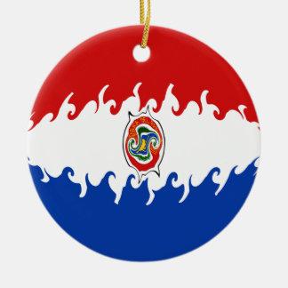 Paraguay Gnarly flagga Juldekoration