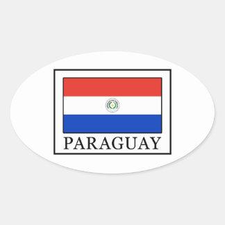 Paraguay Ovalt Klistermärke
