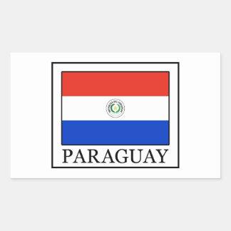 Paraguay Rektangulärt Klistermärke