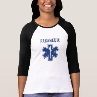 Paramedicinsk stjärna av liv tshirts