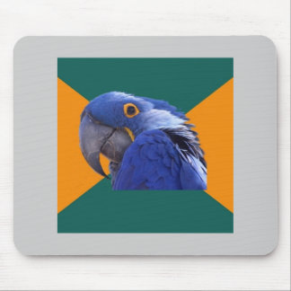 Paranoid djur Meme för papegojafågelrådgivning Musmattor