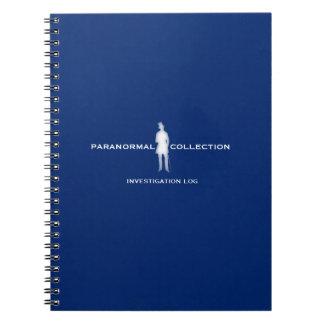 Paranormal utredning loggar anteckningsboken anteckningsbok