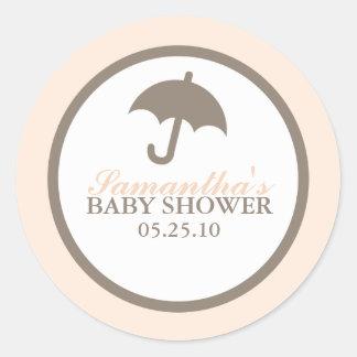 Paraplybaby shower runt klistermärke
