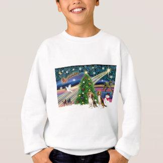 Parar den magiska beaglen för julafton t-shirt
